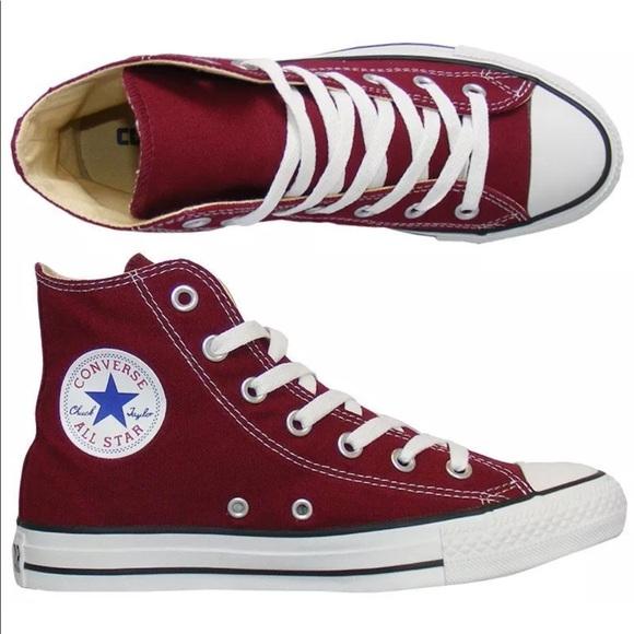 Converse All Star Chuck Taylor Hi Top Burgundy 91396e9c2